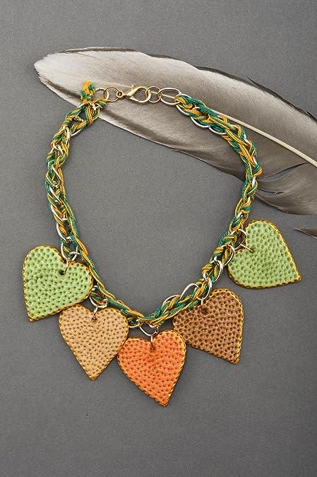 Amazon.com: Unusual Handmade Plastic Necklace Bead Necklace ...