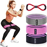 BQYPOWER Resistance Bands for Legs and Butt, Exercise Loop Bands Workout Booty Band Hip Bands Fitness Bands Set Non Slip…