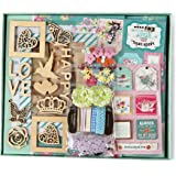 """FaCraft Scrapbook Kit for Teenage Girls,Scrapbooking with Protecters Pockets for Pages (8x8"""",Green)"""