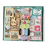 """FaCraft Scrapbook Kits,Scrapbooking Kit with Pages Protecters Pockets (10.5""""x9"""",Green)"""