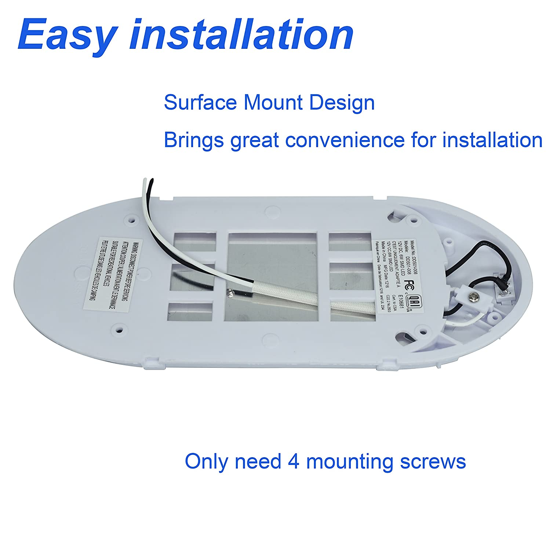 Facon 12V 6W LED Helle Pfannkuchen Deckenleuchte Innenbeleuchtung ...