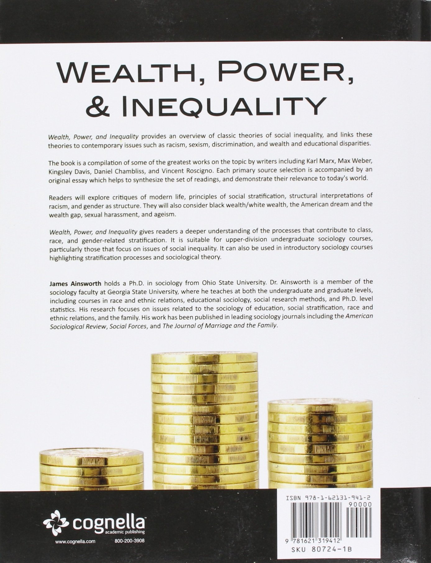 wealth power and inequality james william ainsworth wealth power and inequality james william ainsworth 9781621319412 com books