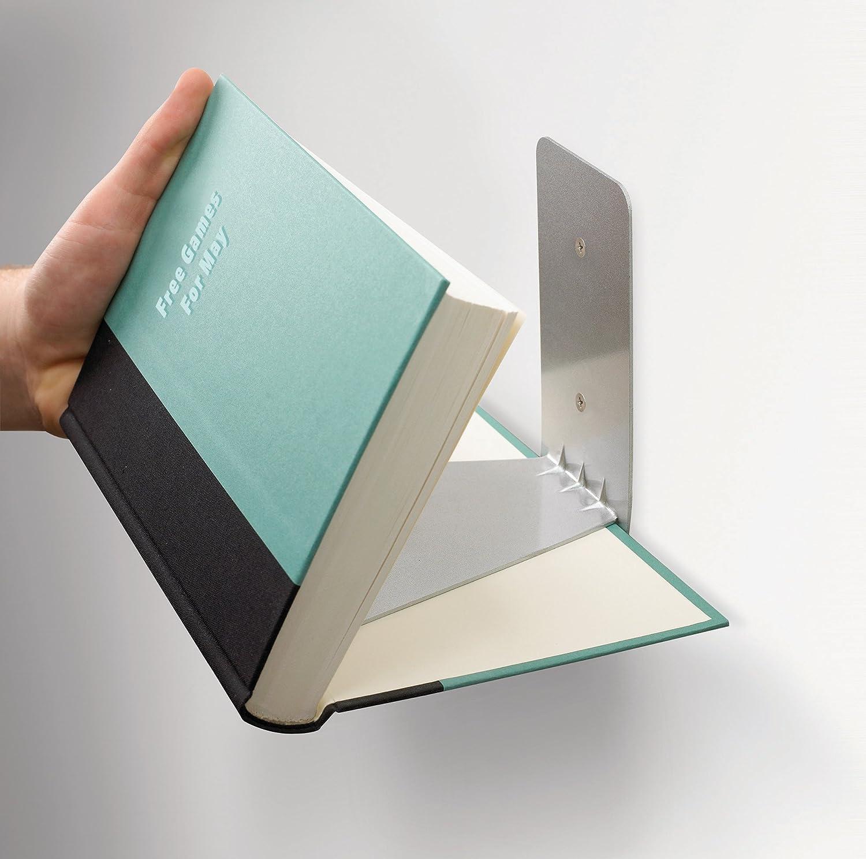 umbra conceal floating bookshelf large silver home