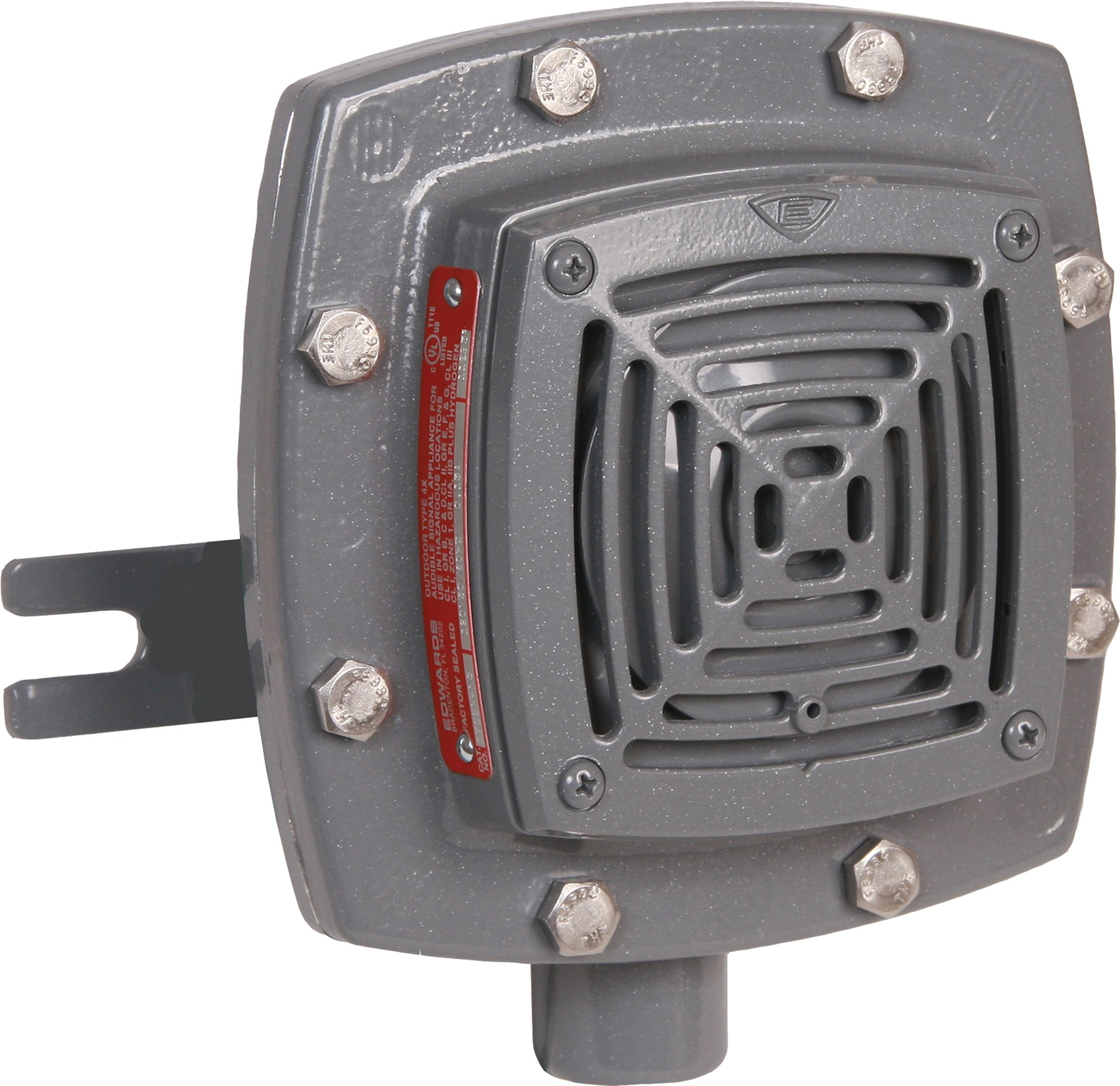 Edwards Signaling 879EX-G1 Vibrating Horn, 107/97 db, Heavy Duty Explosion Proof, 24V DC, Gray