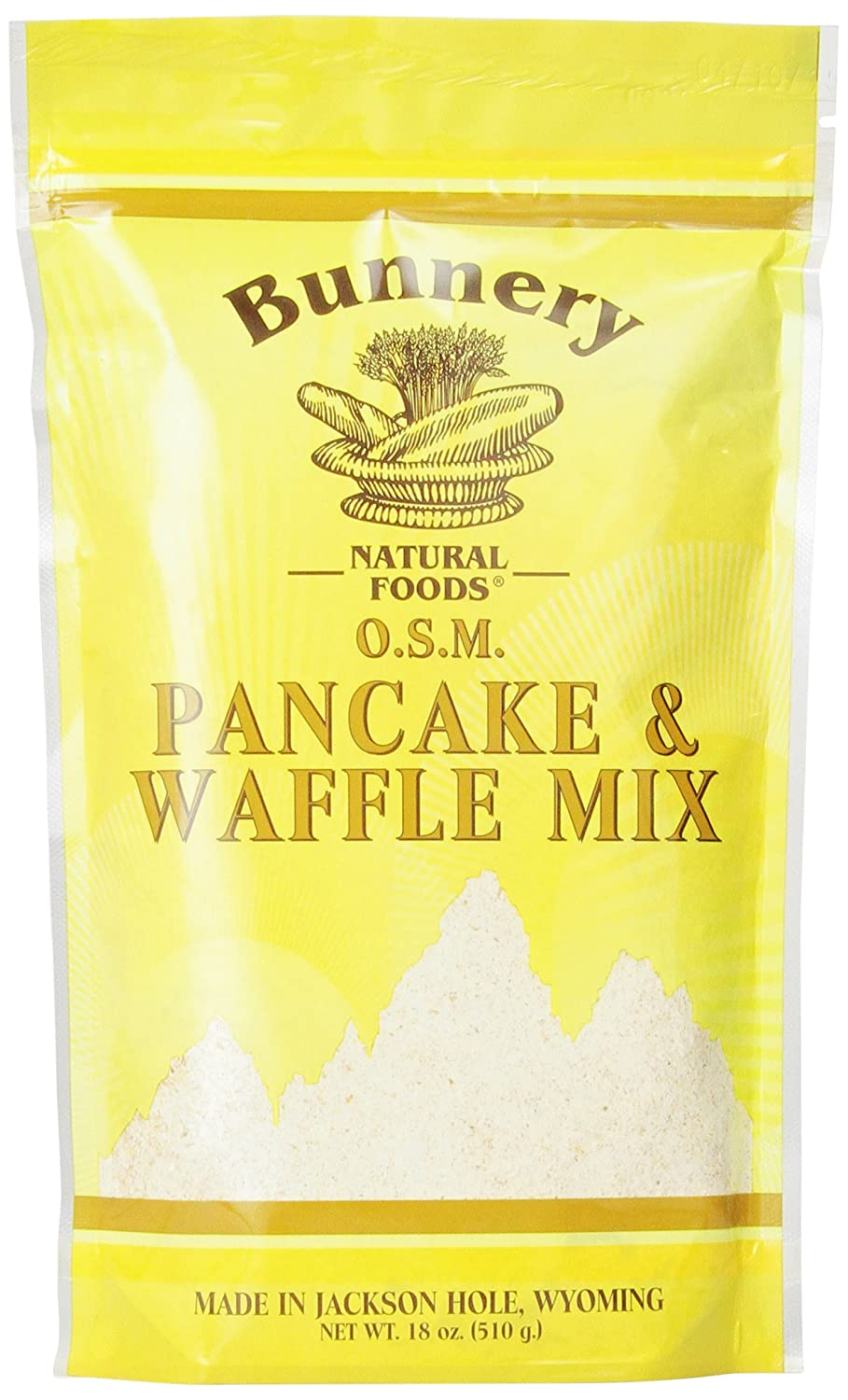 Bunnery Natural Foods Pancake and Waffle Mix, Whole Grain, 18-Ounce Bag