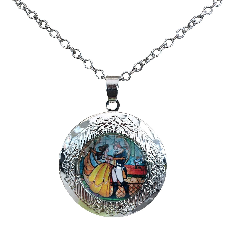Collier avec pendentif Movie Jewellery BB Bell vintage cabochon, romantique en plaqué argent et verre, un cadeau idéal pour les fans de cosplay Kabuso Jewels BB/nec/YB