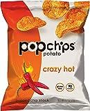 Popchips Crazy Hot Potato Chips, Single Serve 0.8 oz Bags (Pack of 24)