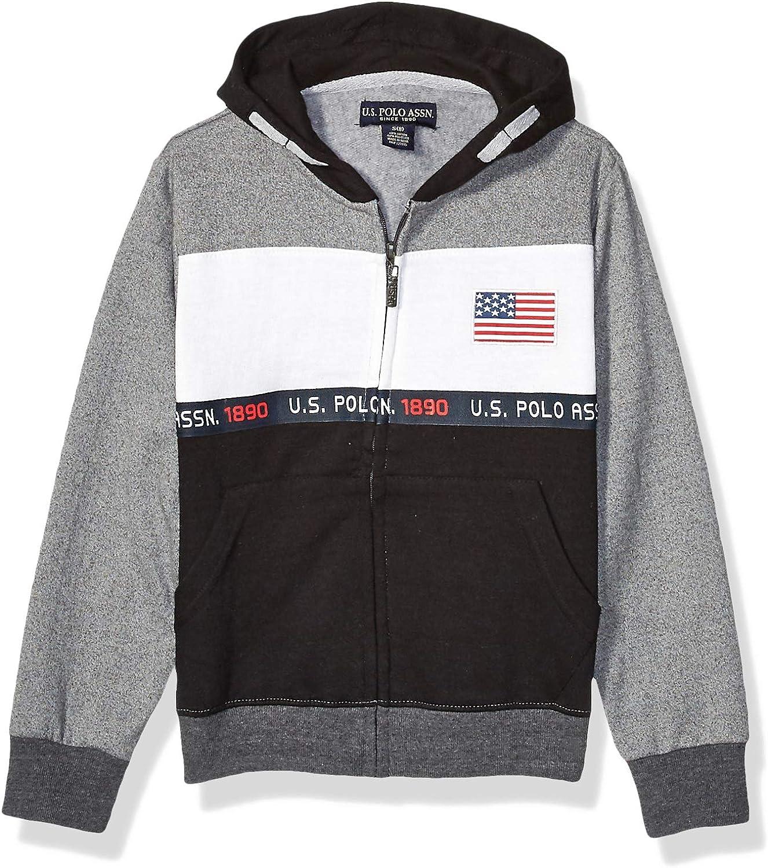 U.S 2 Pack Boys Lightweight Pullover T-Shirt with Hood Polo Assn