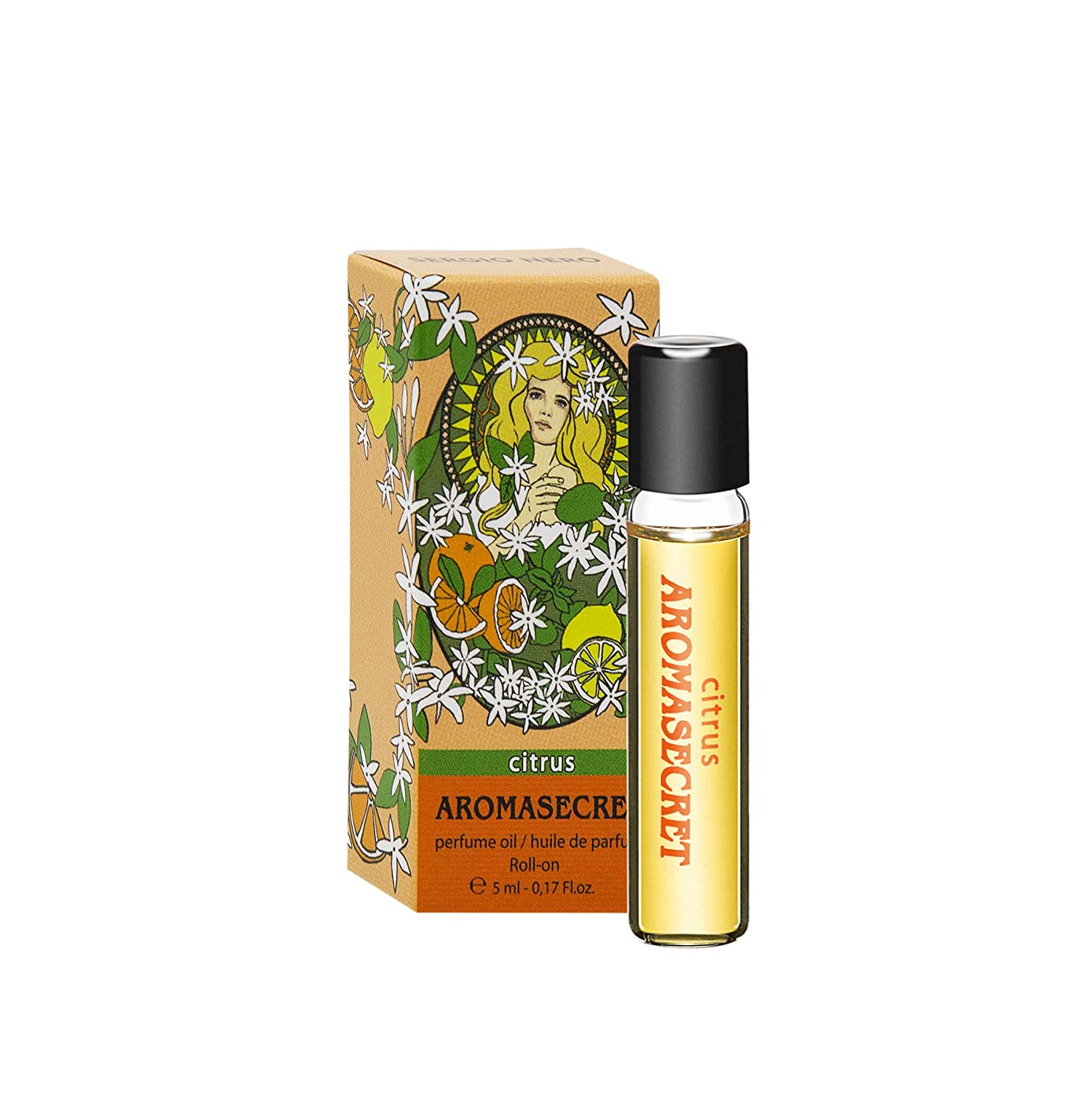 Aromasecret Citrus Perfume Oil for Women - 5 ml Miniature Rollerball - NEW Perfume Conception PARFUMS RENE DE GRACE