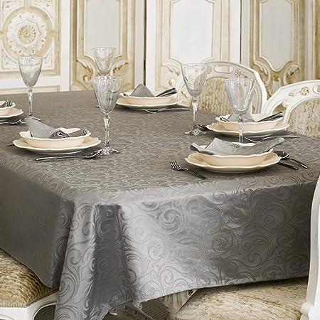 BGEUROPE - Mantel, Color Gris Oscuro, poliéster 80% algodón ...
