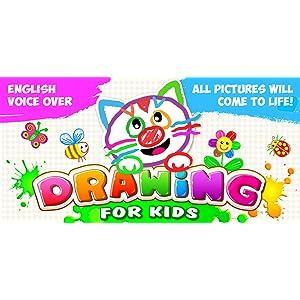 APRENDER A DIBUJAR! Libros Aprendizaje Para Bebés GRATIS! Infantil Juego Educativo Niños y Niñas! Bebé Libro de Colorear Dibujos Animales!