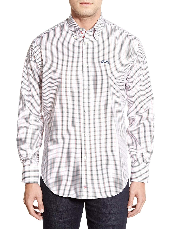 Thomas Dean Ole Miss Rebels Regular Fit Long Sleeve Sport Shirt
