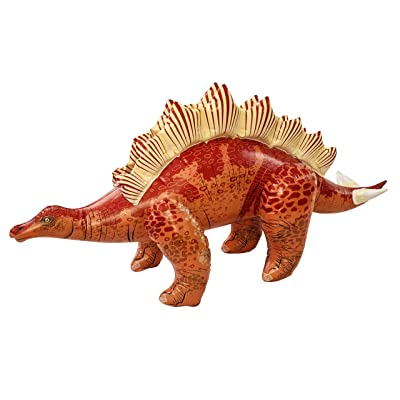 Universal Specialties 46 Inch Long Inflatable Stegosaurus Dinosaur (Red): Toys & Games [5Bkhe0800768]