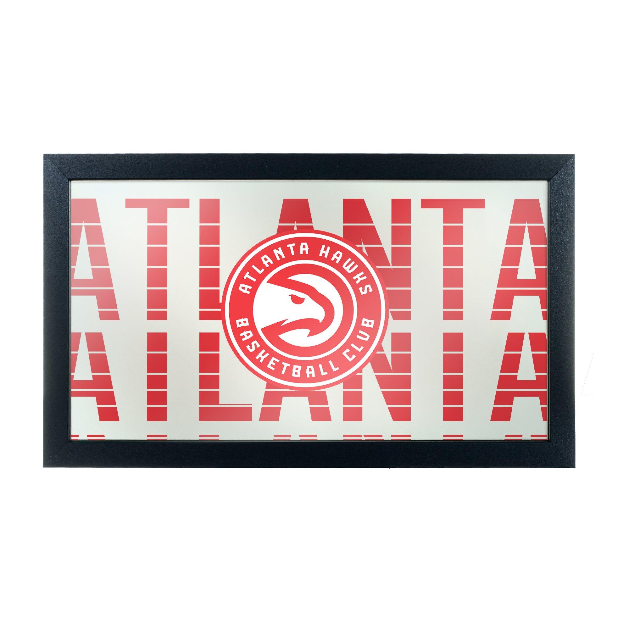 Trademark Gameroom NBA1500-AH3 NBA Framed Logo Mirror - City - Atlanta Hawks