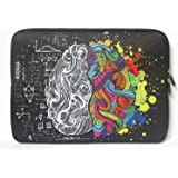 iCasso New Art Image Soft Neoprene Fit for All 13-inch laptop computers - Macbook Air / Macbook Pro (With or Without Retina )/Notebook/Ultrabook (Left and Right Brain)