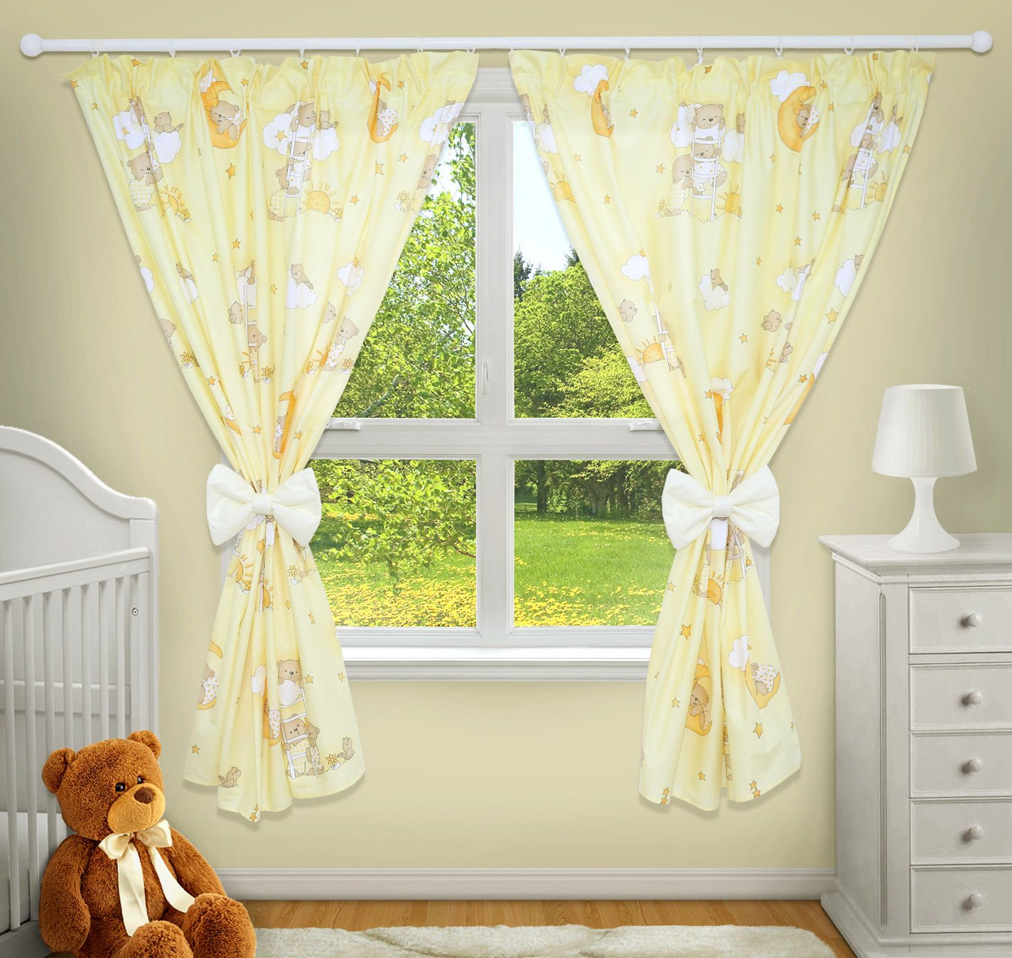 LUXURY DECORATIVE CURTAINS FOR BABY ROOM MATCHING WITH OUR NURSERY BEDDING SETS Dots grey