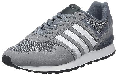 half off 40eb7 f4774 adidas Herren 10K Fitnessschuhe, Grau (GrisFtwblaGricin 000), 39