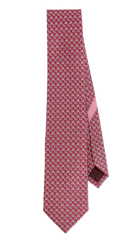 Salvatore Ferragamo Men's Gancini Shadow Tie Red One Size Salvatore Ferragamo-Men' s