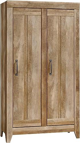 Sauder Dakota Pass Wide Storage Cabinet, Craftsman Oak finish