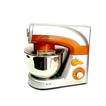Robot de cocina multifunción 3in1 batidora planetaria Picadora batidora de vaso (1200 W, 5,5 L, 6 velocitá) profesional acero inoxidable ambra: Amazon.es: ...