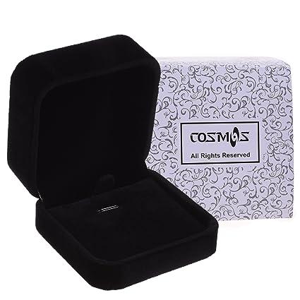 Amazoncom Cosmos Black Velvet Necklace Pendant Box Jewelry Box
