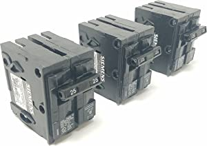 Siemens Q225_3PK 25 Amp Double Pole Type QP Circuit Breaker (Pack of 3)