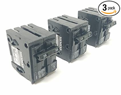 Siemens Q225_3PK 25 Amp Double Pole Type QP Circuit Breaker (Pack of 3)