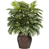 "Nearly Natural Areca Palm with Vase Silk Artificial Plant, 42"" x 11"" x 11"", Green"