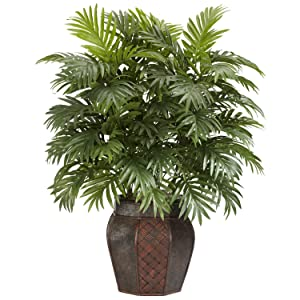 Nearly Natural 6651 Areca Palm with Vase Silk Plant