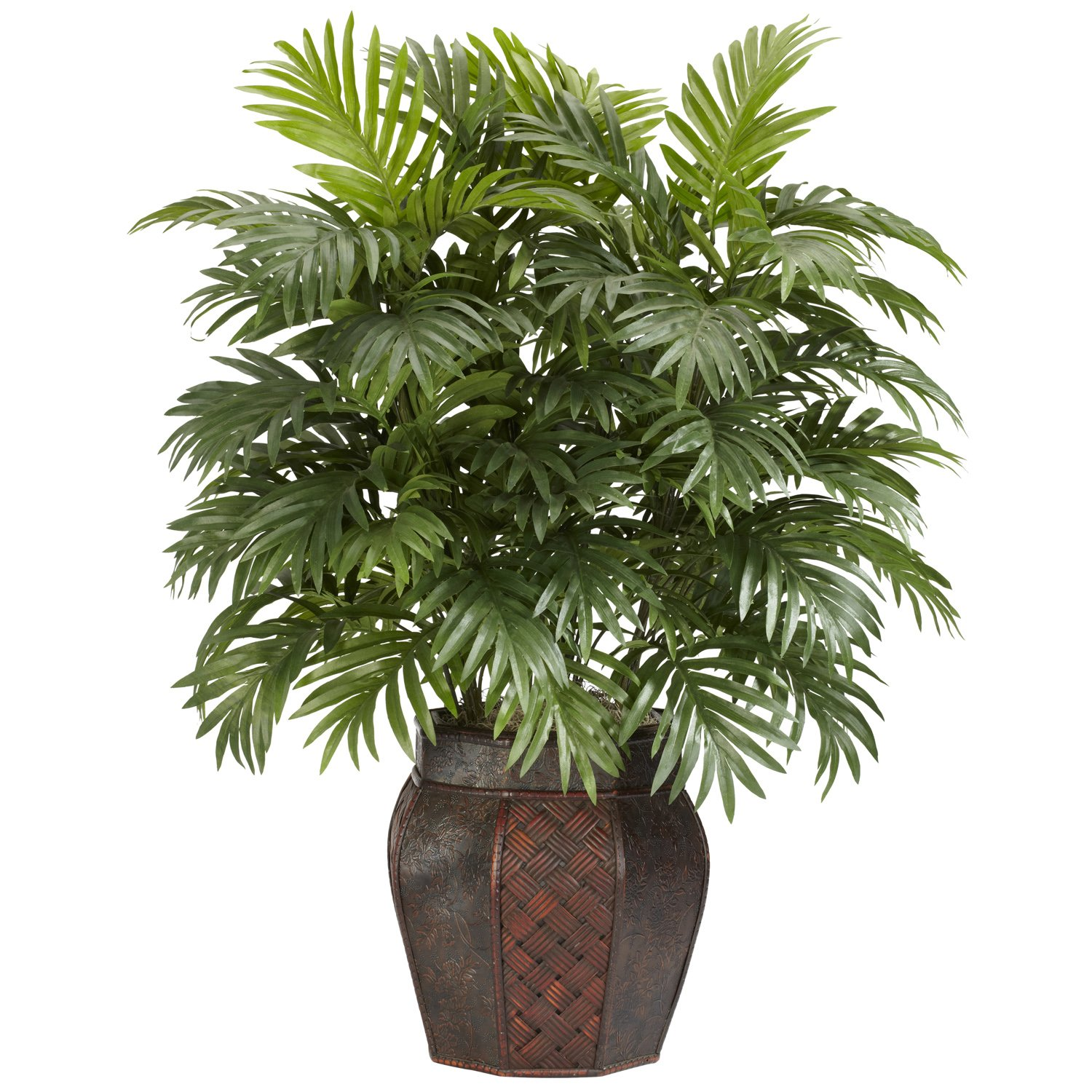 Nearly Natural 6651 Areca Palm With Vase Decorative Silk Plant Green 2
