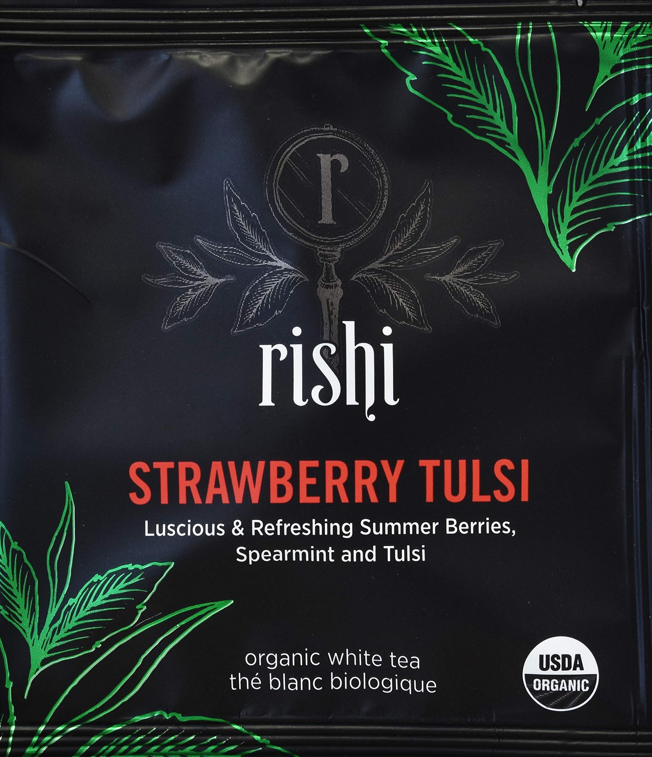 Rishi Tea - Organic Strawberry Tulsi White Tea, 50 Sachets by Rishi Tea