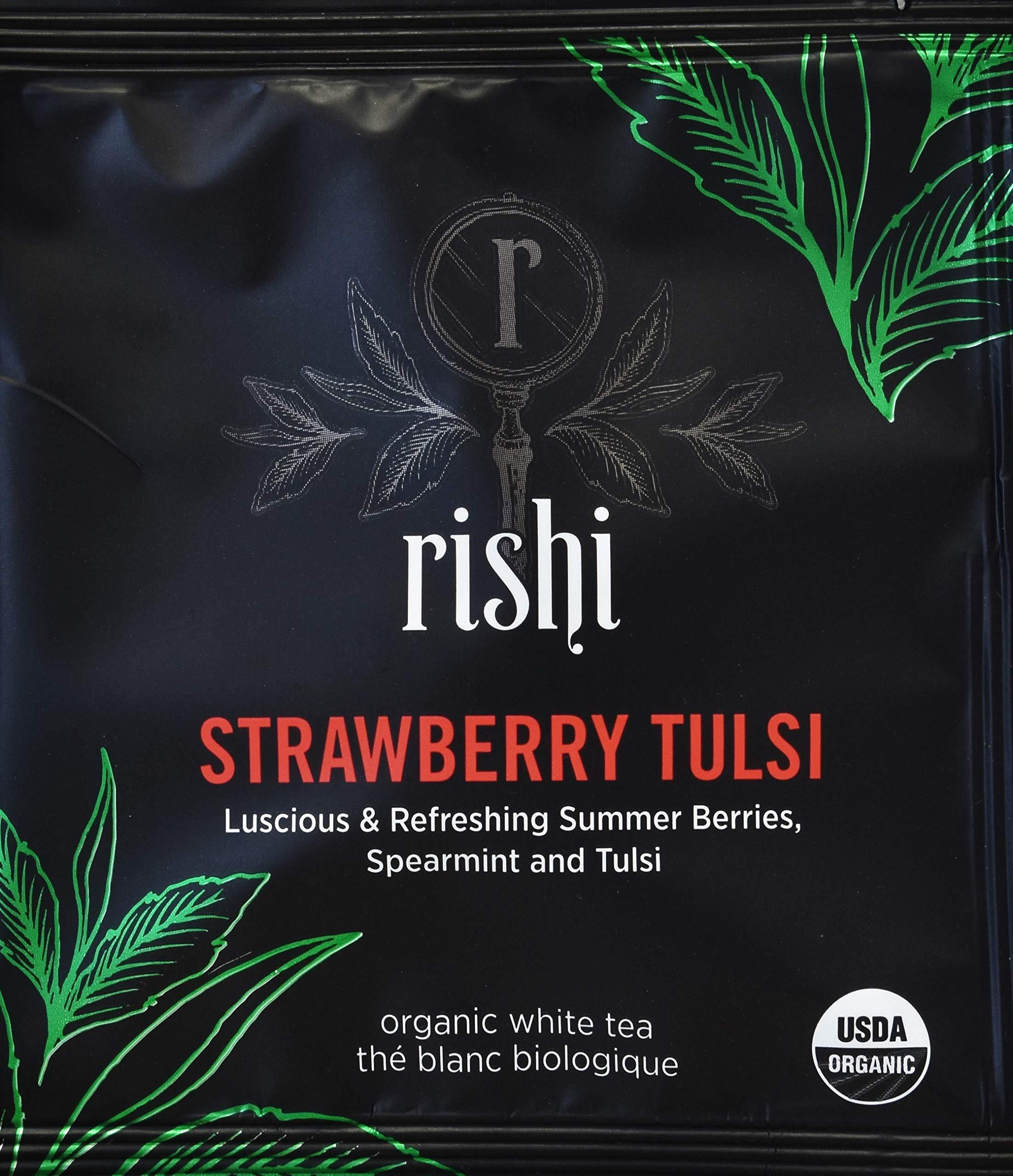 Rishi Tea - Organic Strawberry Tulsi White Tea, 50 Sachets