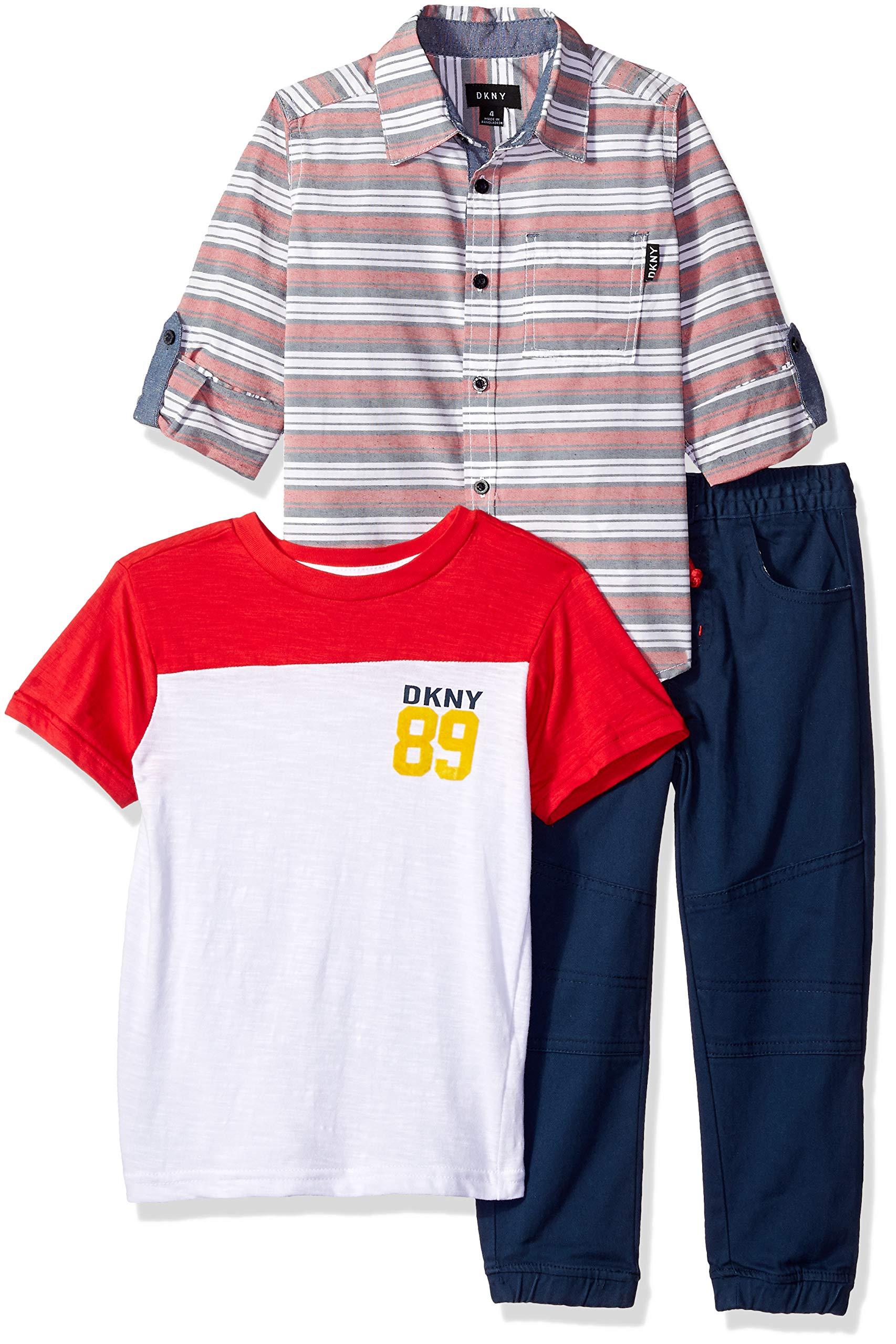 DKNY Boys' Little Manhattan Sport, T-Shirt and Jog Pant