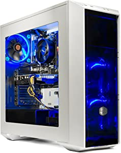 SkyTech Oracle Gaming Computer Desktop PC Ryzen 1200 3.1GHz Quad-Core, GTX 1060 6GB, 16GB DDR4 2400, 120GB SSD, 1TB HDD, Wi-Fi USB, Windows 10 Home 64-bit
