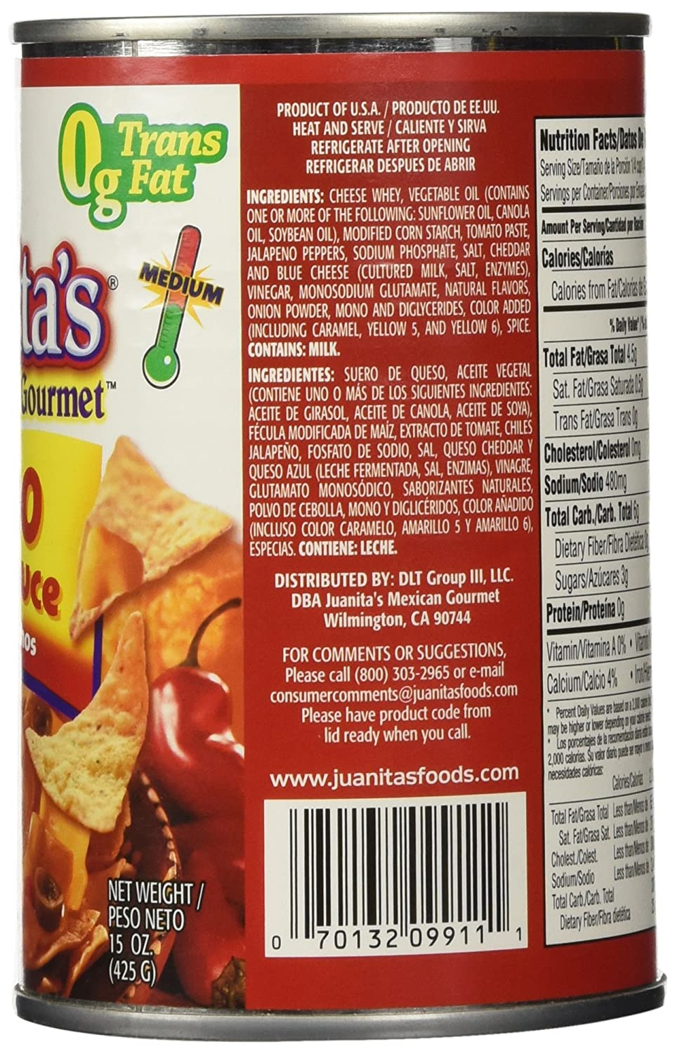 Juanitas Sauce Nacho Cheese, 15-Ounce (Pack of 6)