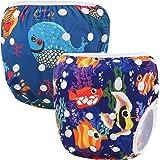 Storeofbaby Wiederverwendbare Baby Schwimmen Windel Schwimmen Hosen Windeln für Jungen Mädchen 0-3 Jahre 2 Pack