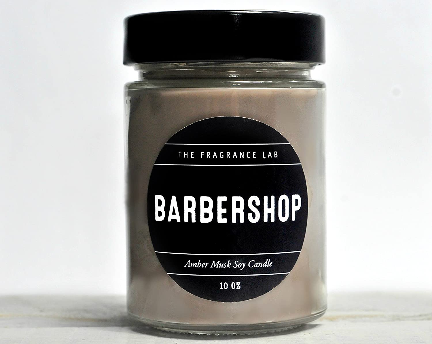 Soy Candles -Barbershop Amber Musk Scented | The Fragrance Lab