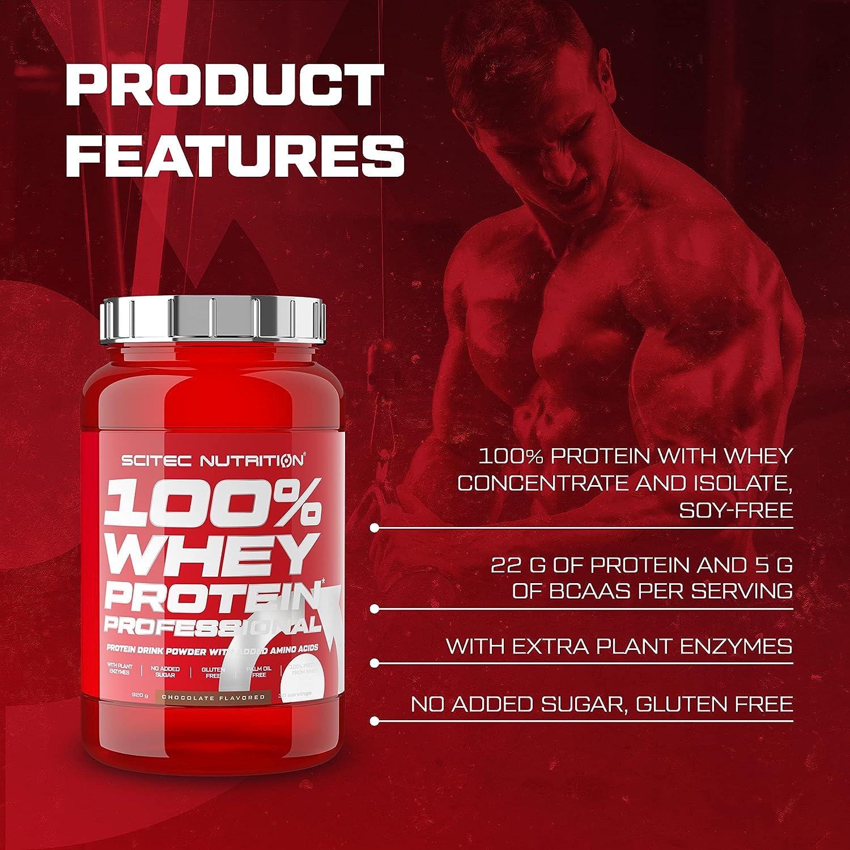 Scitec Nutrition 100% Whey Protein Professional con aminoácidos clave y enzimas digestivas adicionales, 920 g, Chocolate-Coco