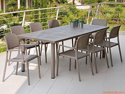 Nardi Patio Furniture.Nardi Libeccio Patio Furniture Dining Set Table With Bora Armchairs
