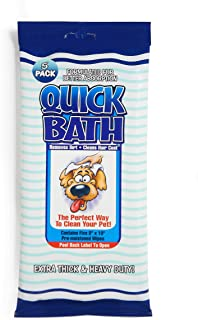 product image for International Veterinary Sciences IVS Quick Bath Pet Towelettes, Removes Odor, Extra Thick and Heavy Duty, Made in The USA
