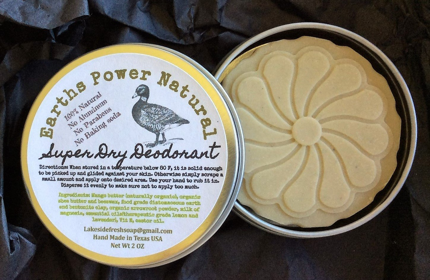 Amazon.com: All Natural Super Dry Deodorant Diatomaceous earth, Milk of Magnesia, Pick Up and Glide 2 oz Solid Bar Aluminum Free Baking Soda Free, ...
