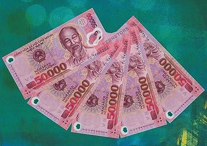 Amazon com: Nice1159 250,000 Vietnam Dong Banknotes = 5X