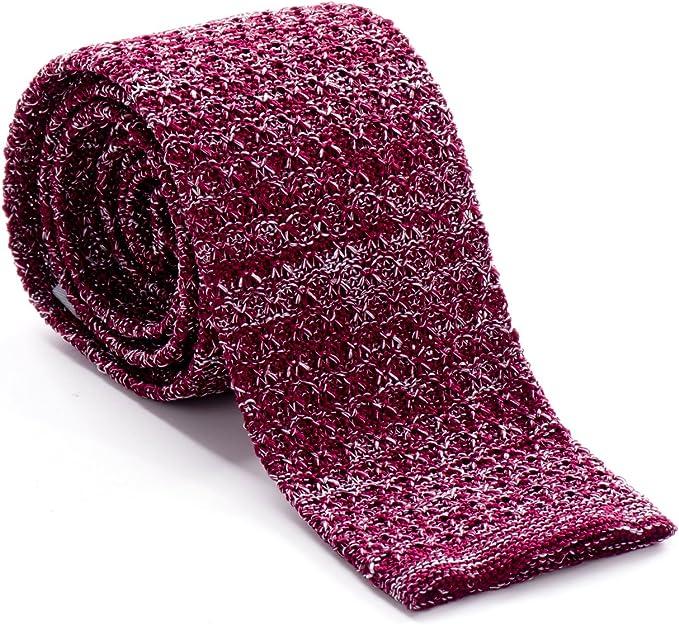 von Floerke® Corbata tejida a mano 5, 5 cm de ancho – rojo, rojo ...