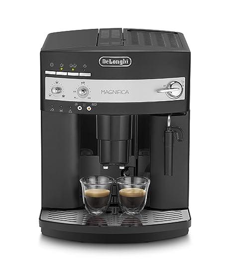 Delonghi Magnifica ESAM3000B Maquina De Espresso, 1350 W, 1.8 Litros, Acero Inoxidable, Negro