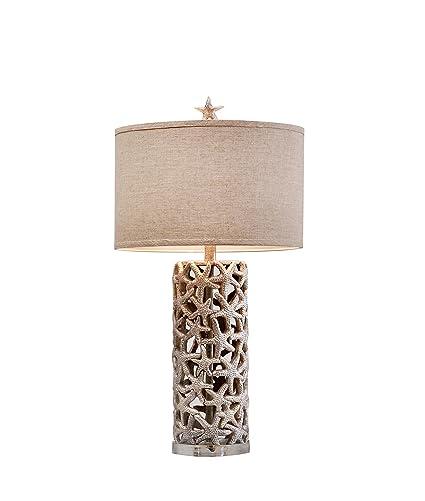 praia starfish table lamp coastal natural p