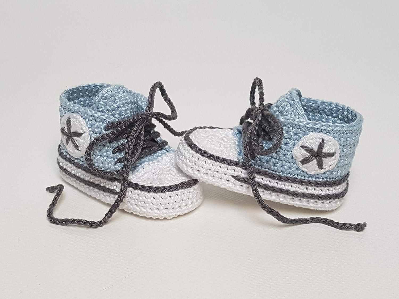 Babyschuhe geh/äkelt-Sneakers-babyblau//dunkelanthrazit-Turnschuhe-Sportschuhe-Krabbelschuhe