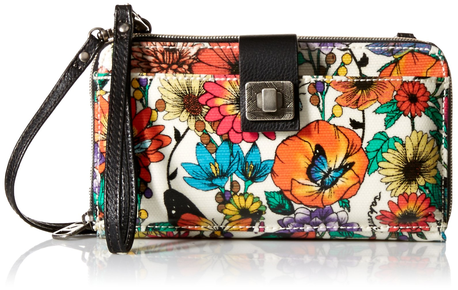 Sakroots Unisex-adults Artist Circle Large Smartphone Crossbody, Optic in Bloom