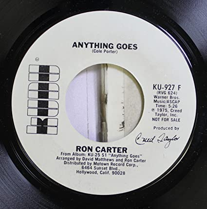 Ron Carter 45 RPM Anything Goes / Anything Goes: Ron Carter ...