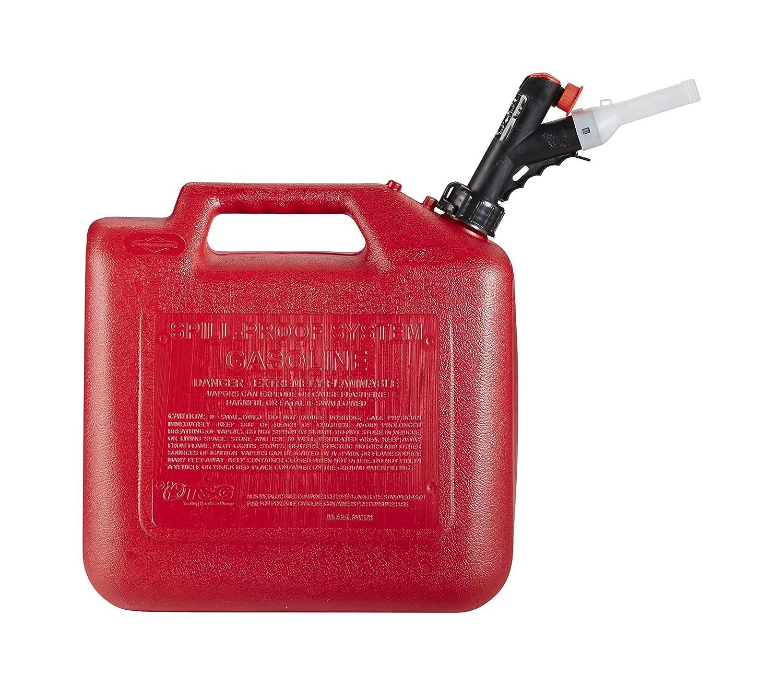 GarageBOSS GB351 Red 5 Gallon Press N Pour Gas Can
