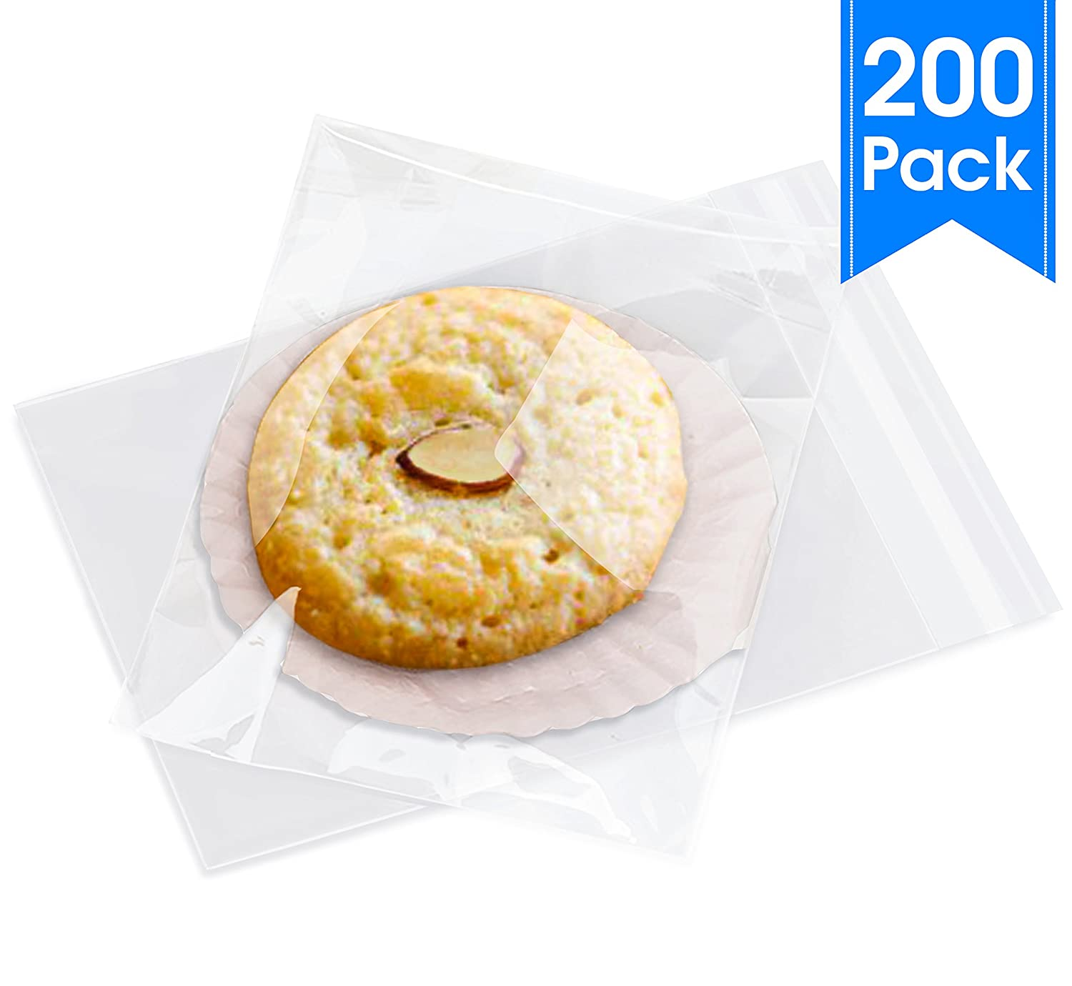 """Clear Resealable Cellophane Cello Bags Self Seal Clothing Tshirts More Sizes Available 200 Letter Size Documents 9"""" X 12"""" Fits Brochure Pack It Chic ATZ Premium Brands"""